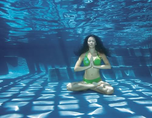 meditar con agua