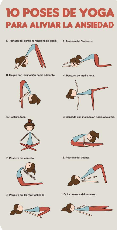 Posturas de yoga para aliviar la ansiedad