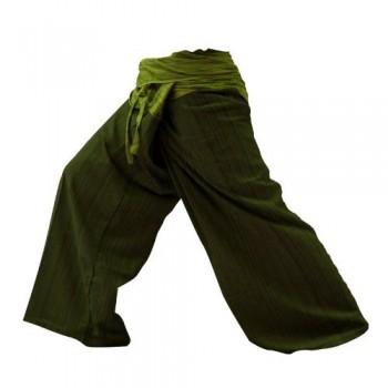 2-tonos-Pescador-Pantalones-Tailandeses-Pantalones-Tamao-Libre-Yoga-Algodn-1101-0