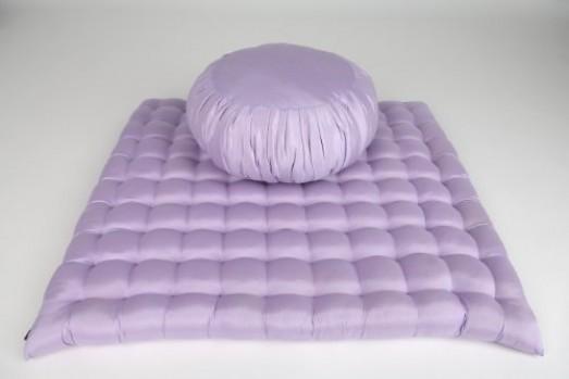 Leewadee-Zafu-Zabuton-Juego-de-cojn-y-alfombra-de-meditacin-40-x-20-cm-y-76-x-72-cm-color-morado-0