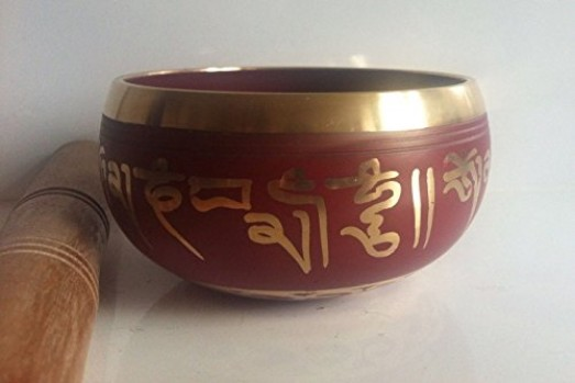 Meditacin-cuenco-tibetano-arte-rojo-decoracin-budista-de-10-cm-0