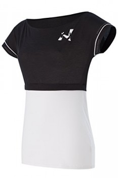 Naffta-Pilates-Yoga-Camiseta-de-manga-corta-para-mujer-color-blanco-negro-talla-M-0