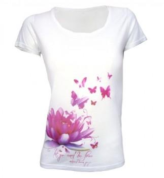 Natural-Born-Yogi-Lotus-Bliss-Camiseta-de-manga-corta-de-yoga-para-mujer-diseo-de-flor-y-mariposas-color-blanco-blanco-blanco-TallaM-0