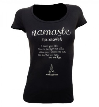 Natural-Born-Yogi-Love-Camiseta-de-manga-larga-de-yoga-para-mujer-diseo-de-texto-namaste-color-negro-negro-negro-TallaS-0