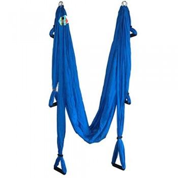 Pellor-Hamaca-Correa-volar-para-AntiGravity-Yoga-Pilates-area-Azul-oscuro-0