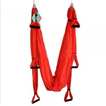 Pellor-Hamaca-Correa-volar-para-AntiGravity-Yoga-Pilates-area-Rojo-0