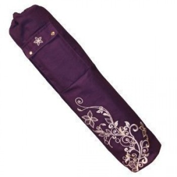 Yoga-Mad-Wildflower-Bolsa-para-esterilla-de-yoga-63-x-145-cm-diseo-floral-Grape-0